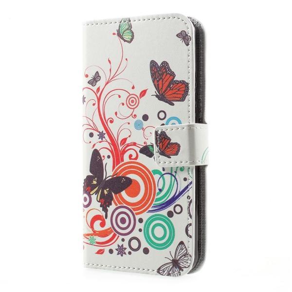 Plånboksfodral Samsung Galaxy S10 Plus - Vit med Fjärilar
