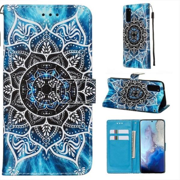 Plånboksfodral Samsung Galaxy S20 – Blå Mandala