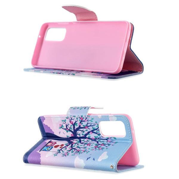 Plånboksfodral Samsung Galaxy S20 – Ugglor på Gunga