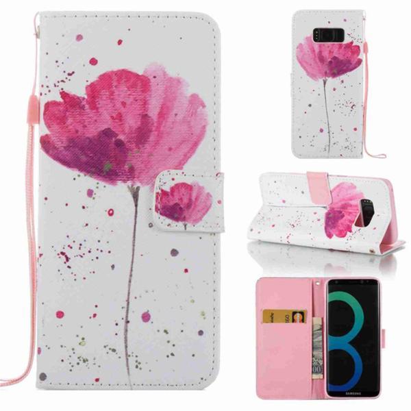 Plånboksfodral Samsung Galaxy S8 – Rosa Blomma