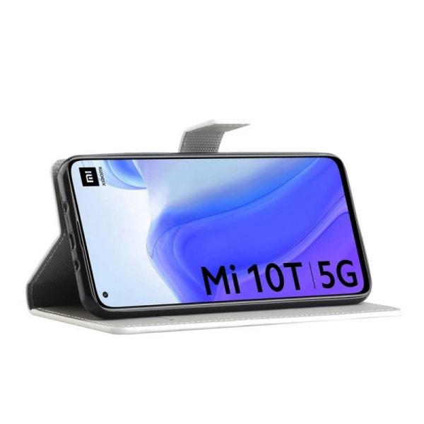 Plånboksfodral Xiaomi Mi 10T Pro - Lila / Fjärilar