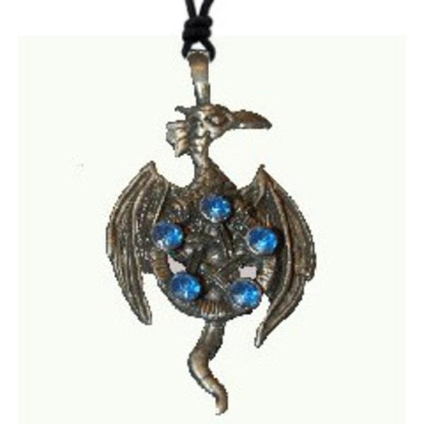 Halsband Fågel Fenix med Pentagram