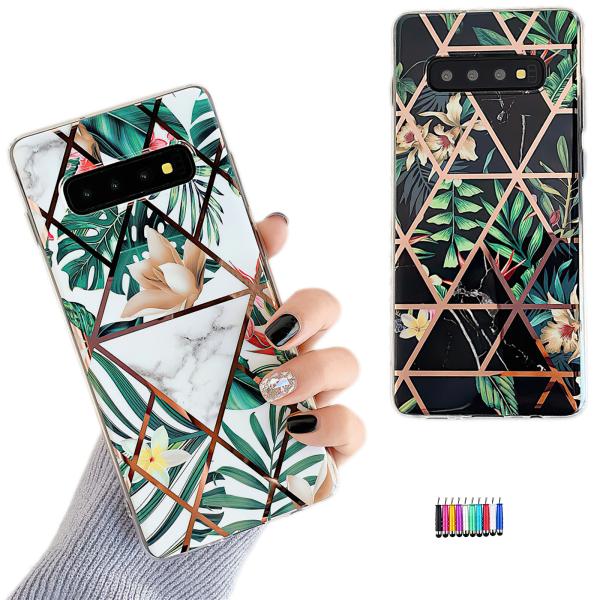 Samsung Galaxy S10 - Skal / Skydd / Geometriskt Vit