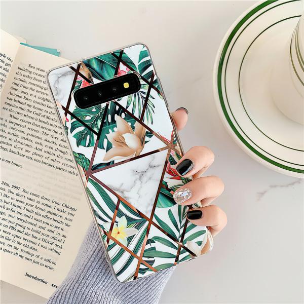 Samsung Galaxy S10 - Skal / Skydd / Geometriskt Svart