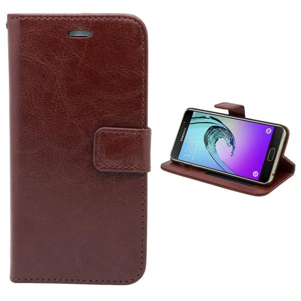 Fodral / Plånbok i Läder - Samsung Galaxy A3 2016 Rosa