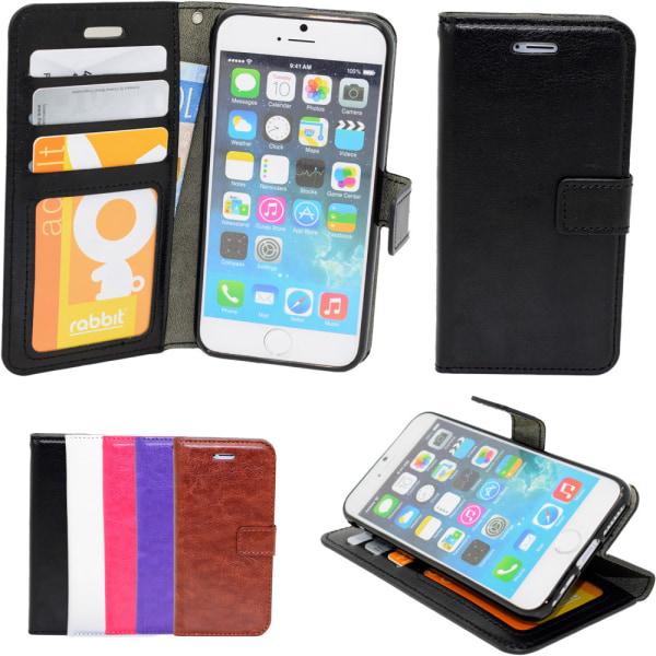 iPhone 7 Plus / 8 Plus - Läderfodral/Skydd Svart