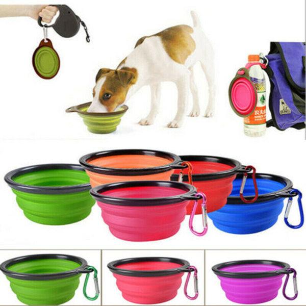 Kompakt Foder/Mat Skål för Hund Katt Svart