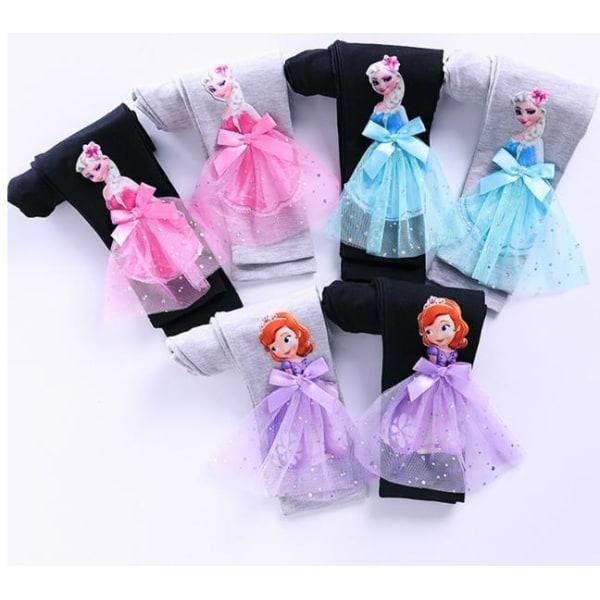 Princess sommar 3D T-shirts & byxor-Elsa-Belle-Rapunzel-Aurora Elsa vit byxar 110