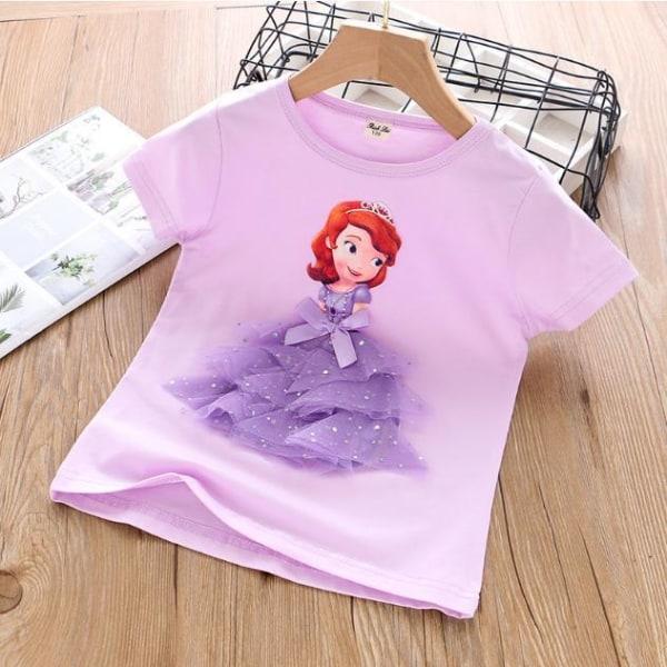 Princess sommar 3D T-shirts & byxor-Elsa-Belle-Rapunzel-Aurora Rapunzel purple 120