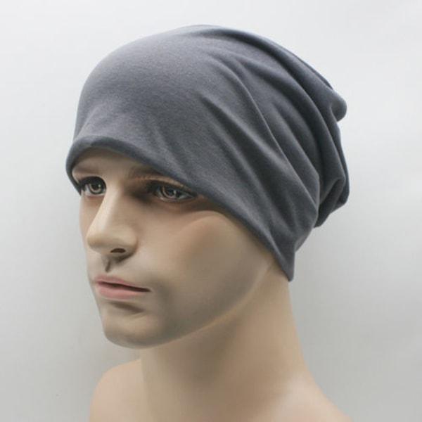 Mode vuxen stickad hatt unisex casual huva för män och kvinnor Dark gray