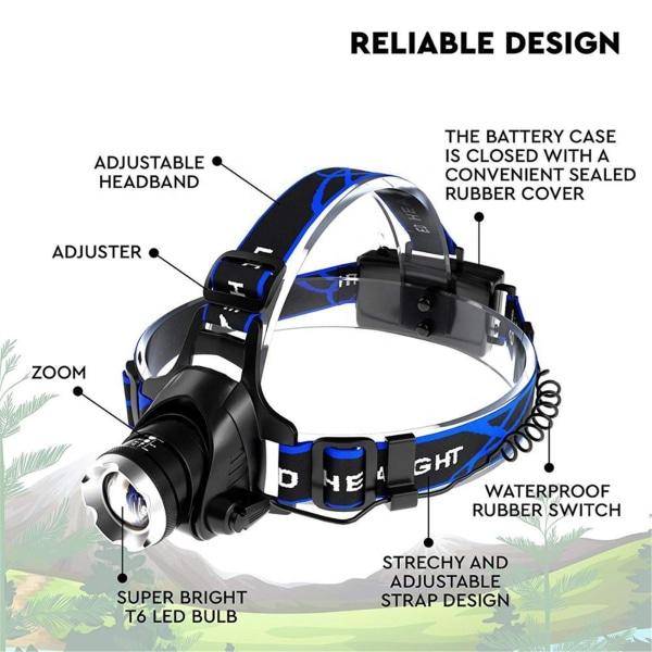 LED -strålkastare USB vattentät strålkastare Camping stark strålkastare