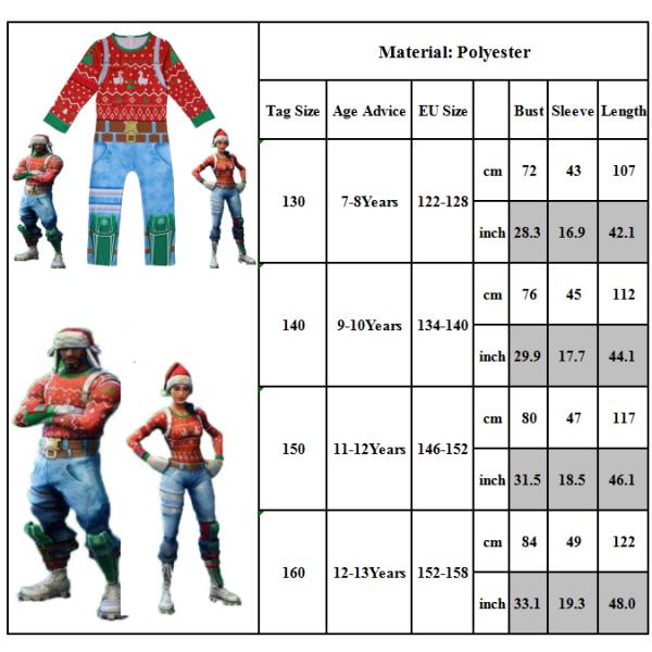 Christmas Ranger Set Halloween Cosplay Kostym Kid Style 130