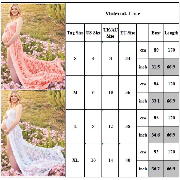 Tube top moderskap klänning kvinnors klänning fotografi klänning apricot L