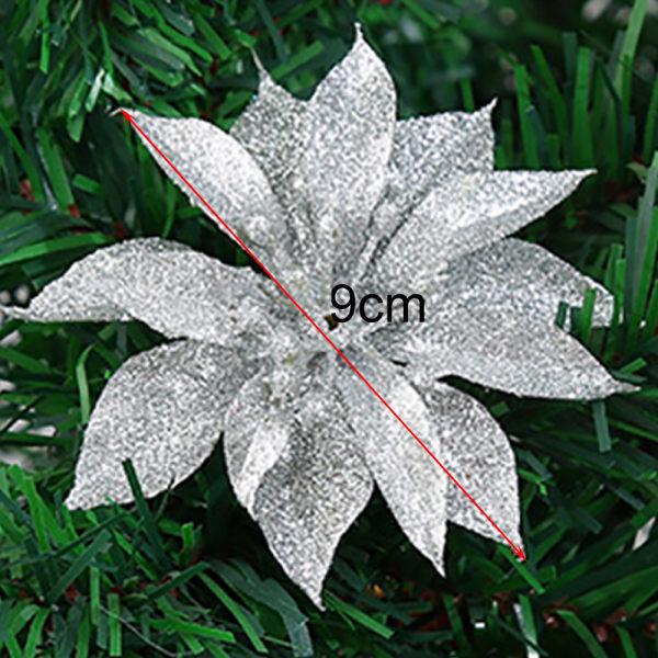 10st konstgjorda blommor julpynt Xmas Tree Decor Rose Gold 10pcs