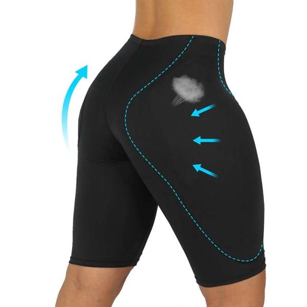 Kvinnor Buttocks Shape Slim Sponge Pads Trosor Black L
