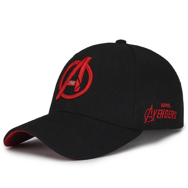 Mäns casual toppad elastisk passform keps trucker mesh bakpanel hatt Black B