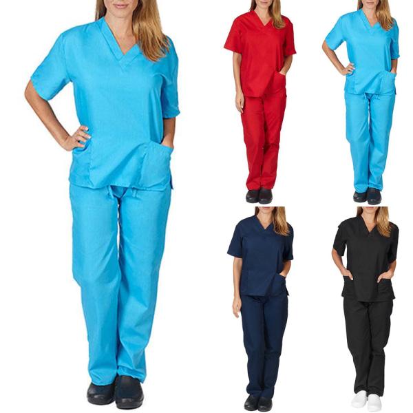 Sjuksköterska kostym vanliga arbetskläder _ vanliga arbetskläde himmelsblå S