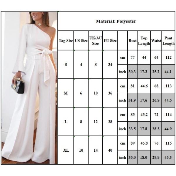 2PCS Dam Mode Sommar Vit Kostym En white L