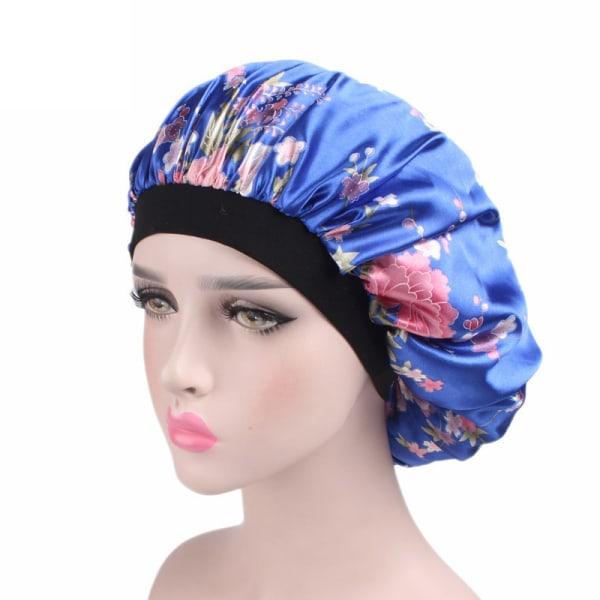 Keps för damer _ nattkeps för vida brädor _ hårförpackad hushållshatt Sapphire