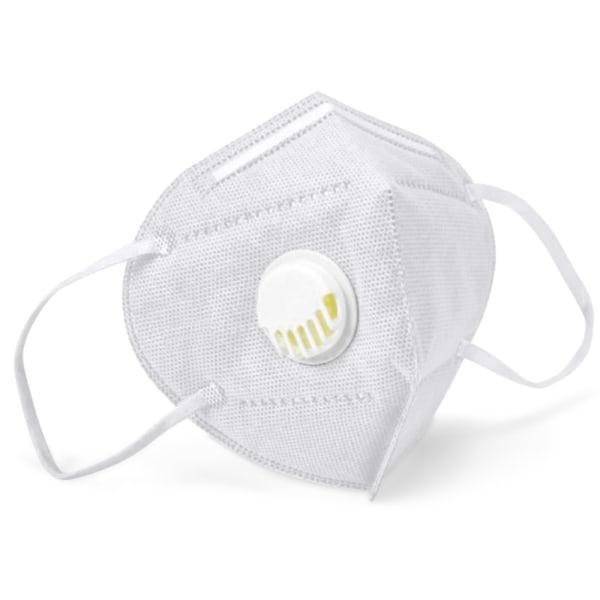 5-st Kn95 elastiska masker med filter dagliga kontorsmasker Vit 5-st