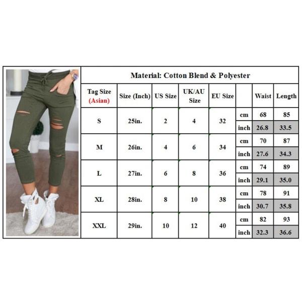 Smala jeans för kvinnor med hög stretch grå S