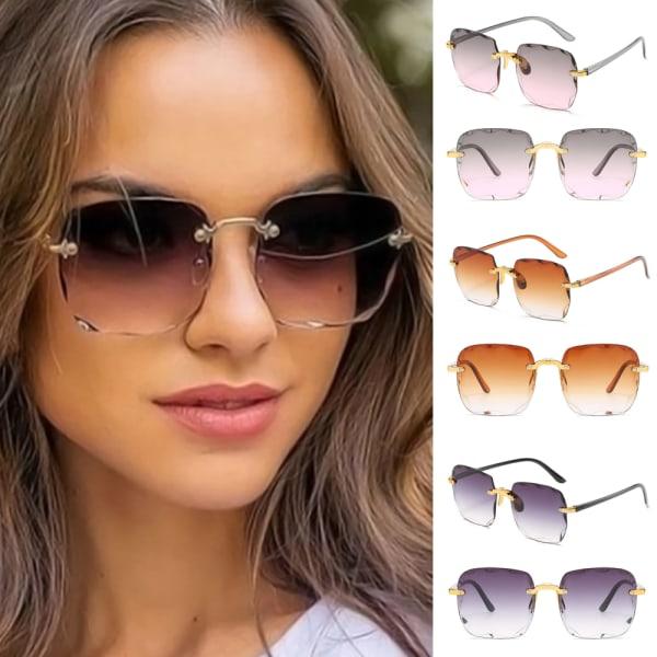 Kvinnas retro solglasögon för solglasögon för tappningkattöga Upper dust and lower powder