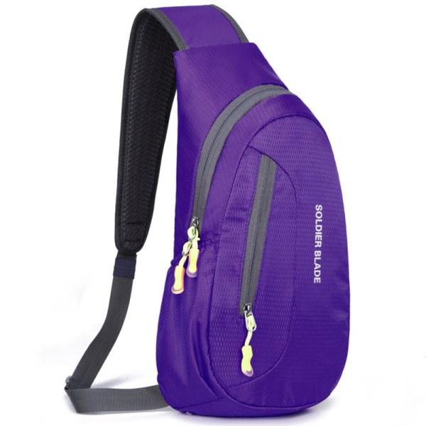 Vattentät bröstpackväska Klättra sport utomhuscykelryggsäck purple 21*41*10cm