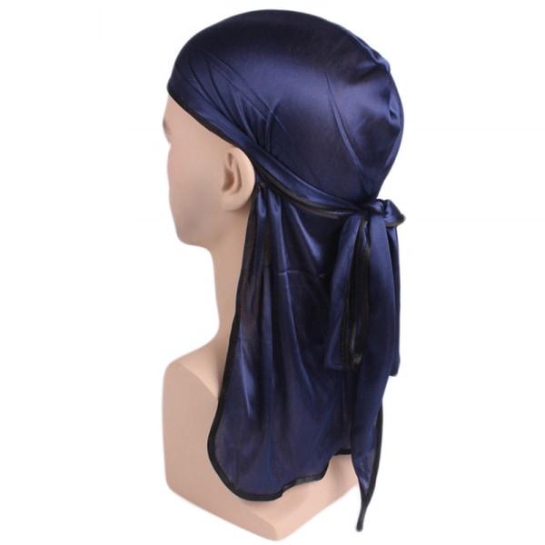 Mode dam lång svans hologram huvudduk huvudband halsduk hatt Navy
