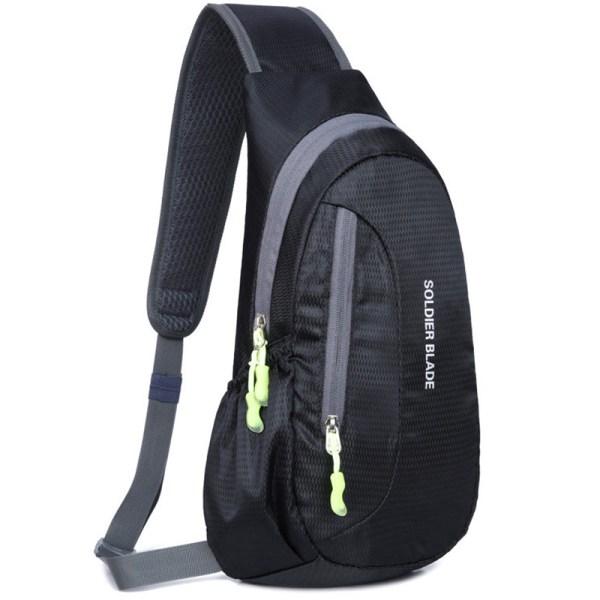 Vattentät bröstpackväska Klättra sport utomhuscykelryggsäck black 21*41*10cm
