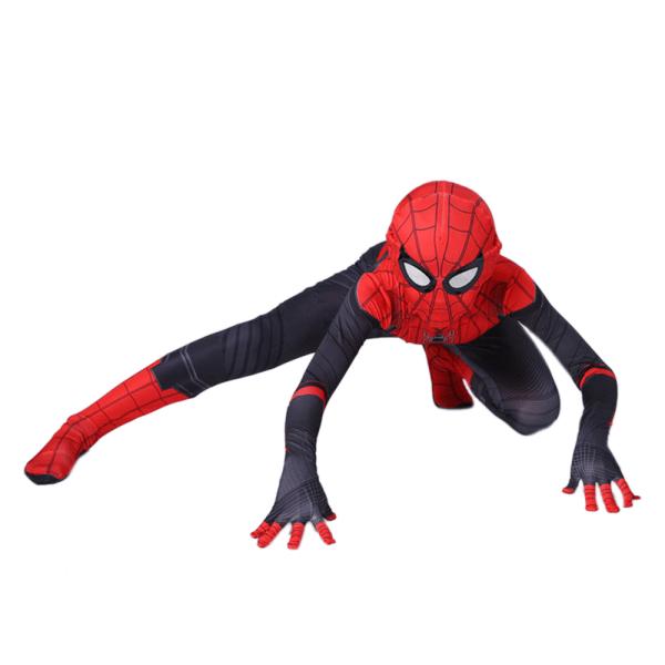 Barn Spiderman Cosplay Kostym Superhjälte Halloween Kostym Red 110cm