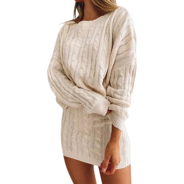 Dam enfärgad lös tröja kort kjol kostym Short Skirt M