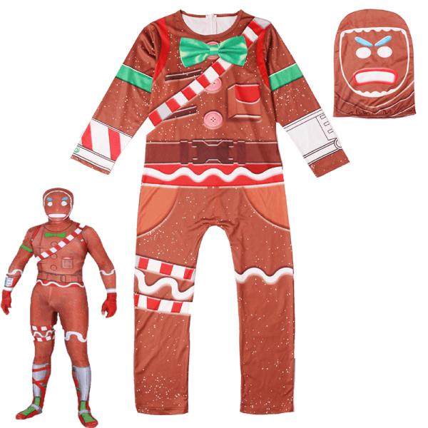 Jul pepparkakor man kostym cosplay kostym barn stil 160