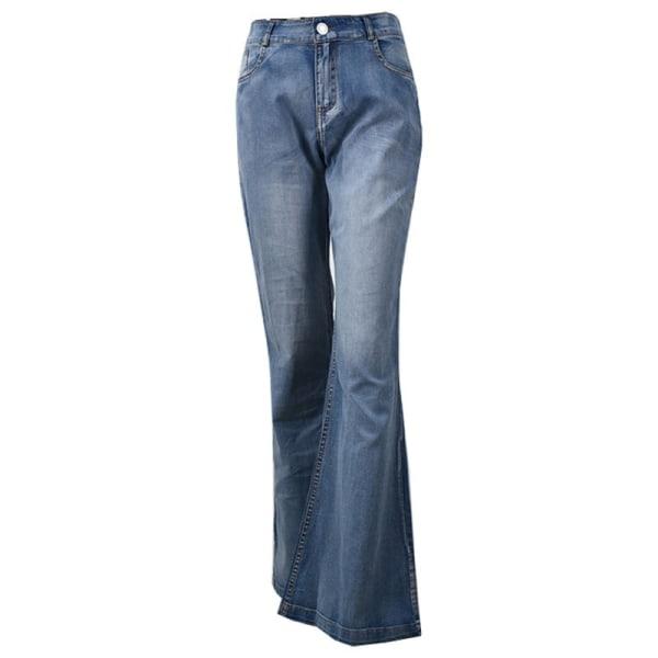 Höst Vinter Kvinnlig Slim Flare Denim Jeans