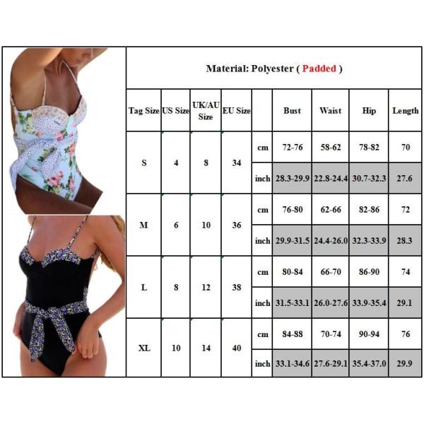 Baddräkt baddräkt utan rygg för kvinnor, baddräkt i ett stycke Svart S