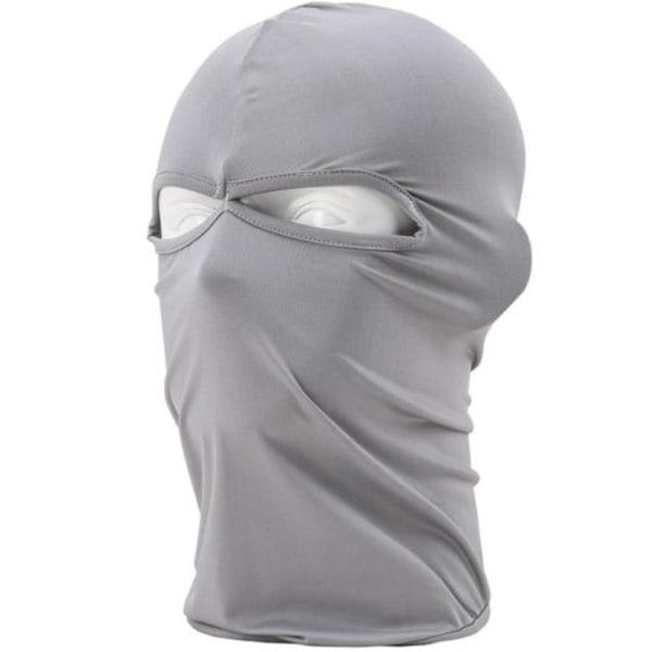 Lycra Bike Mask Vindtät hatt Motorcykeljakt Skidåkning hatt light grey
