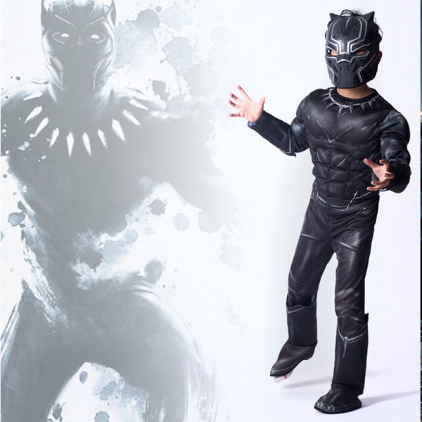 Black Panther cosplay kostym bodysuit Halloween cosplay kostym
