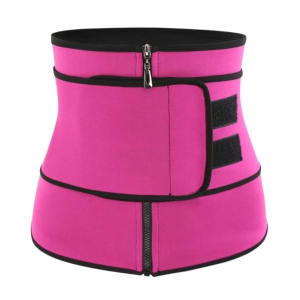 Kvinnor midja tränare Zip enkel bälte sport korsett Body Shapewear black S