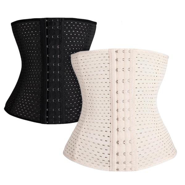 Kvinnors bälte midja tränare Shapewear Slim korsett mage kontroll black L