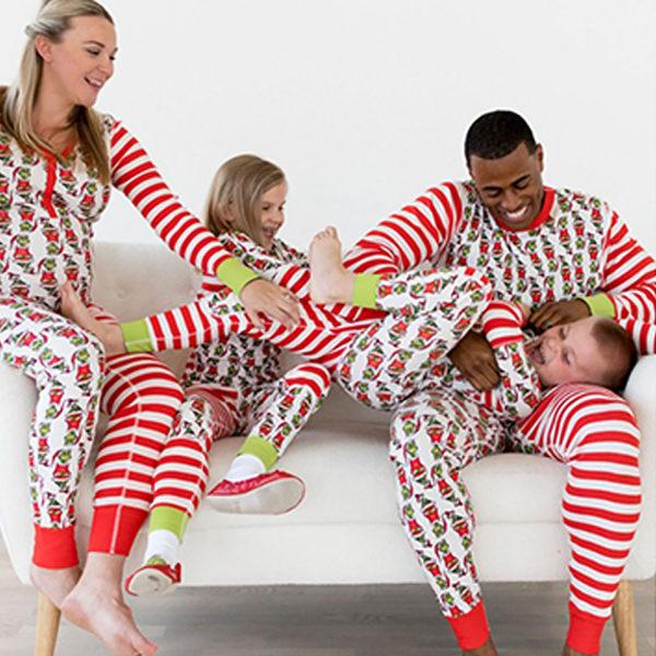Julfamilj som matchar pyjamas passar pojkar och flickor Children's 2T