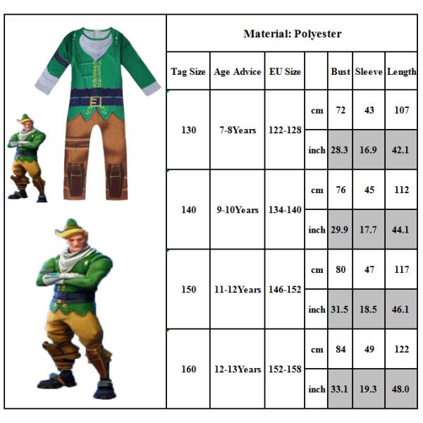 Codename ELF Christmas Set Halloween Cosplay Kostym