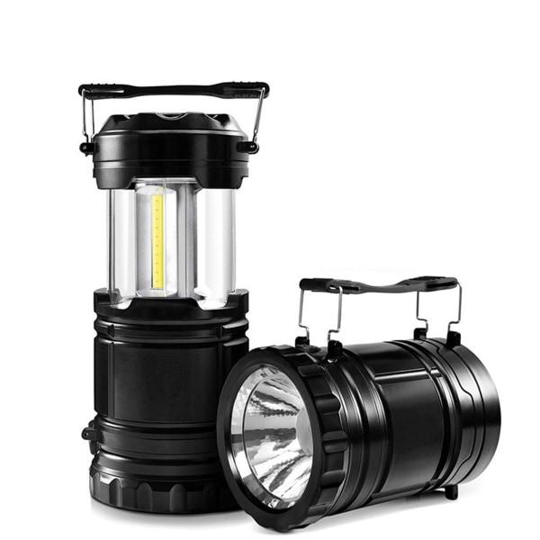 LED bärbar belysning Lantern Camping lampa Teleskopisk ficklampa