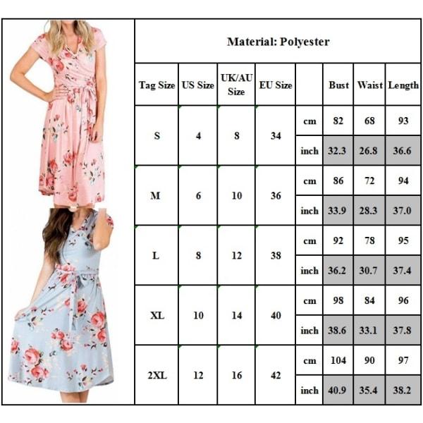 Elegant midiklänning med v-ringning för kvinnor