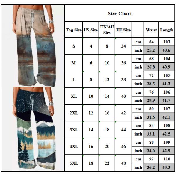 Europeiskt och amerikanskt mode retro byxor med löst tryck