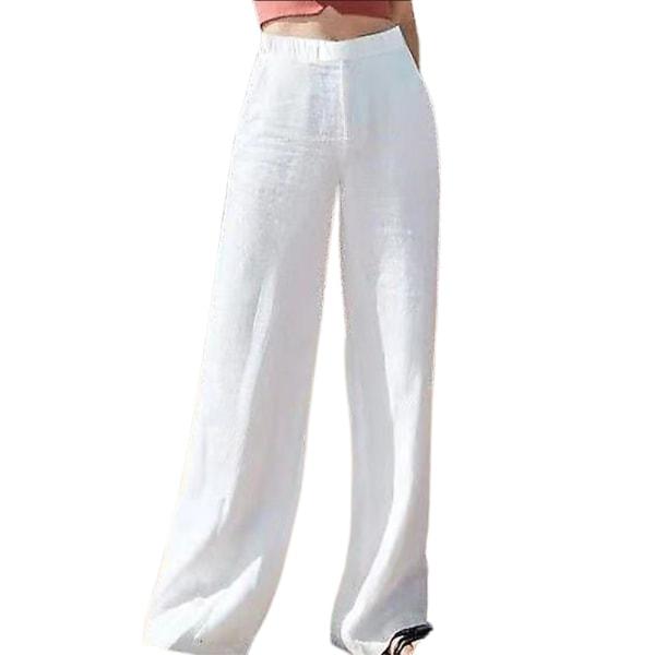 Europeiskt och amerikanskt temperament med enfärgade byxor white 4XL
