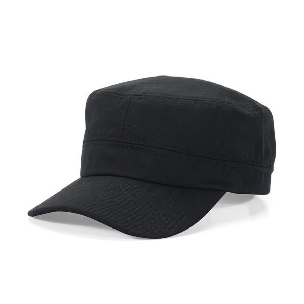 Flat topp militär mössa kadett militär mössa militär stil hatt black