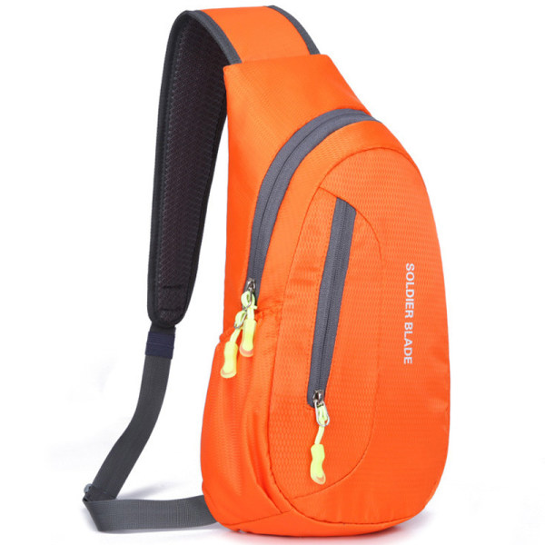 Vattentät bröstpackväska Klättra sport utomhuscykelryggsäck orange 21*41*10cm