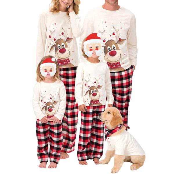 Family Edition Christmas Elk Print Family Wear Långärmad pyjamas Far M