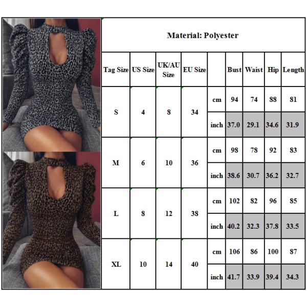 Fashion Design Kvinnor Bubble Sleeve U-ringad Bandage Mini Dress