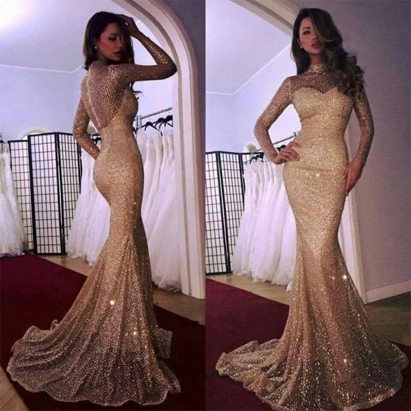 Mode Se igenom klänning Eleganta kvinnor långa XL