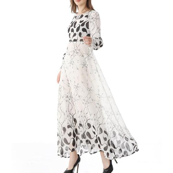 Franska högkänsla lång kjol jul klänning kvinnor